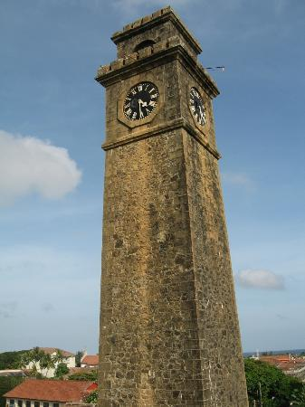Dalmanuta Gardens - Ayurvedic Resort & Restaurant: Galle fort clock tower, built by British after capturing the fort from the Dutch