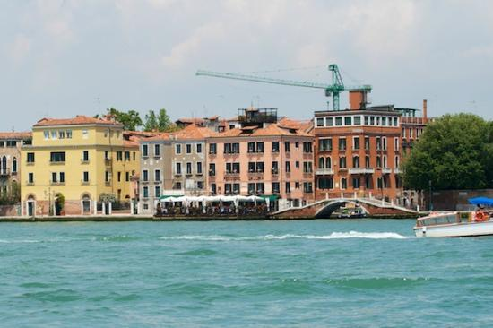 Pensione La Calcina: View from the water bus