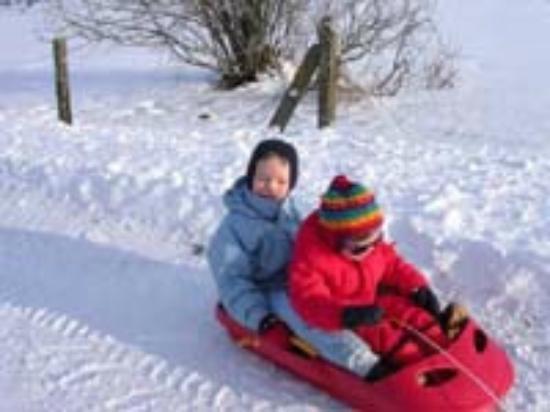 Gite du Limon: Le plaisir des enfants en hiver