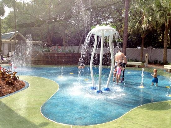"Marriott's Barony Beach Club: recently completed splash pad on the ""Garden Side"""