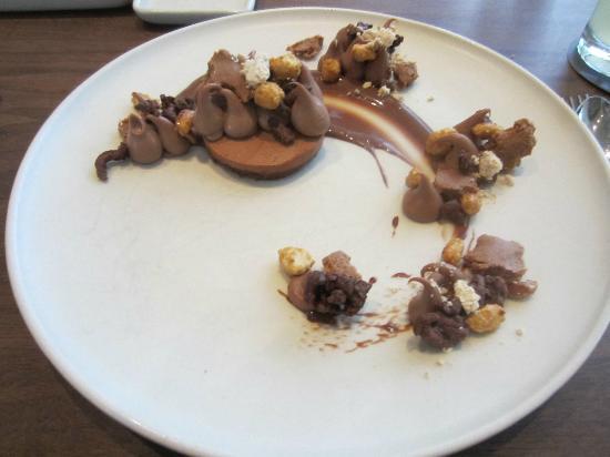 Michael Mina: Chocolate & peanut abstract