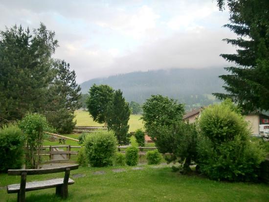 Sunstar Boutique Hotel Albeina Klosters: Vista desde el jardín del hotel