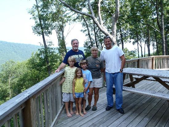 Bear Rock Ridge Bed & Breakfast: Joe, Sandy, the grandkids, and I.