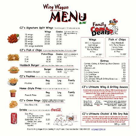 Wing Wagon: Check out the Menu