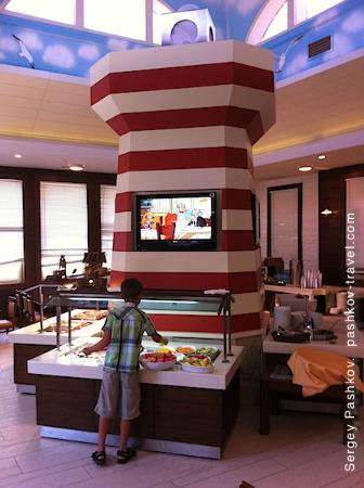 Club Mega Saray: Детский ресторан. Еда и мультики