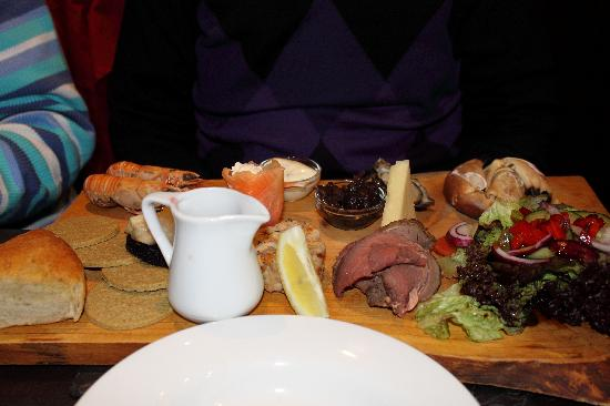 The Bellachroy Restaurant: My friends seafood and meat platter