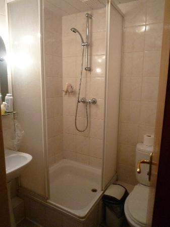 Tiny bathroom with shower stall only - Picture of Suputnyk Hotel ...