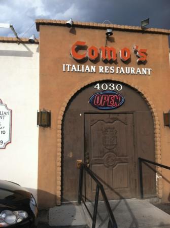 Como 39 s italian restaurant el paso menu prices for Italian el paso tx