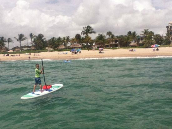 Driftwood Beach Club: Paddleboarding off the Driftwood Beach