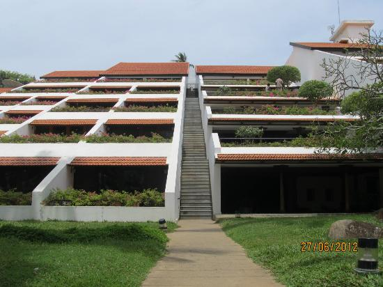 Back View Of The Hotel Building Picture Of The Leela