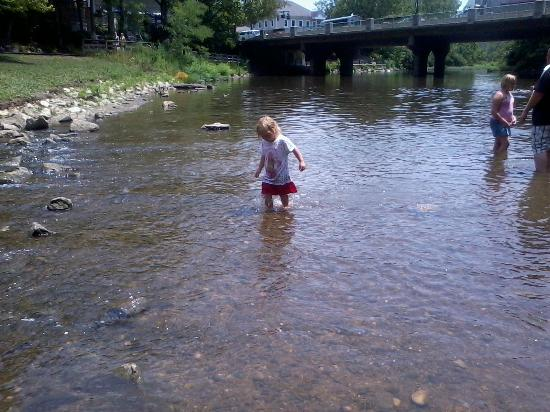 Creekside Park: playing in the water