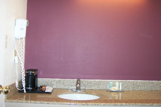 Quality Inn Historic East - Busch Gardens Area: The vanity area. No Mirror!!!!!!!