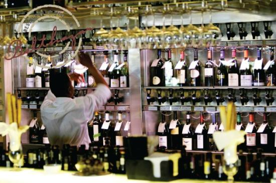 Belthazar Restaurant and Wine Bar - Largest Wine by the Glass Bar