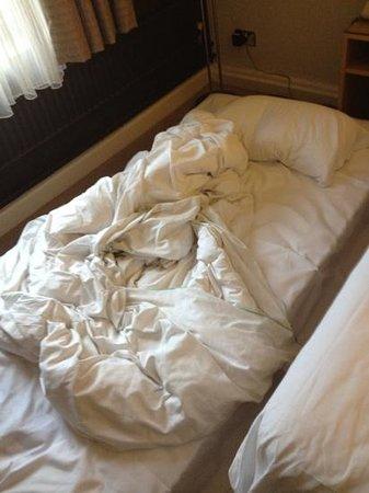 Hilton York:                   sleeping on the floor
