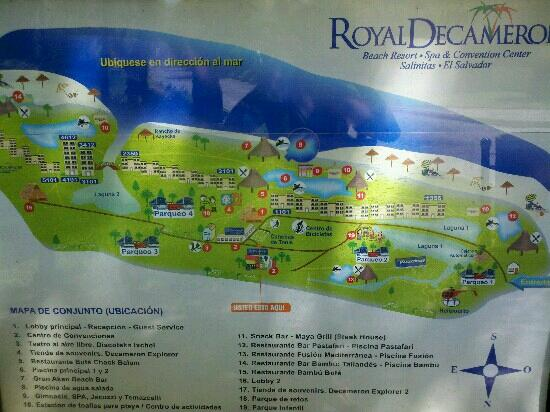 Royal Decameron Salinitas: Map