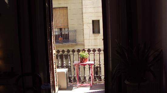 Casa Marcelo Barcelona: The balcony.