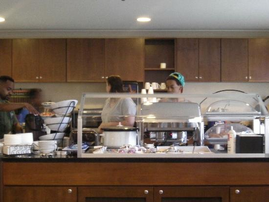 Staybridge Suites near Hamilton Place: q at the breakfast bar