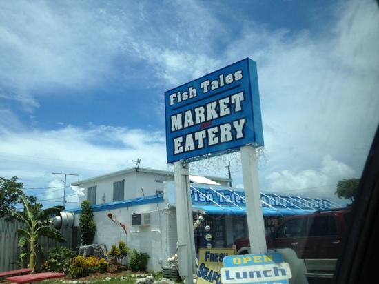 Just west of Vaca Cut bridge - on your way in! - Picture of Fish Tales Market & Eatery, Marathon ...