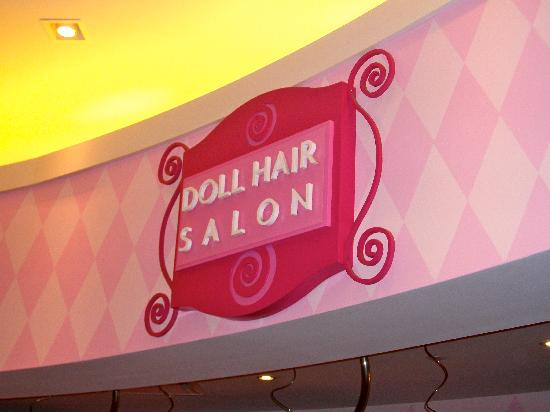 American Girl Place - New York: hair salon!!!