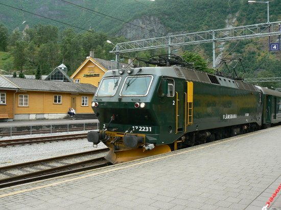 The Flam Railway : The engine on the pushme-pullyou train.