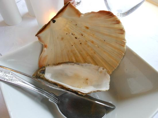 The Pierhouse Hotel: Oyster & clam shell still no langoustine
