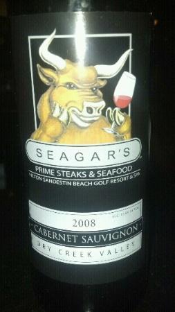 Seagar's Prime Steaks & Seafood: Seagars wine