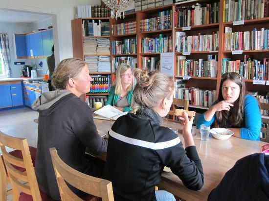 Eplet Bed & Apple: The communal dining room at Eplet
