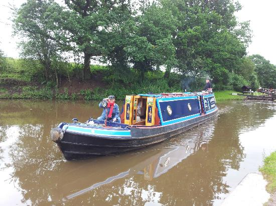 """Trent and Mersey Canal: Narrowboat """"Owl"""" near Manchester, July 2012"""