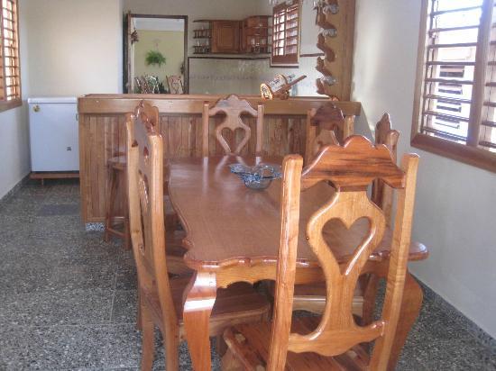 Villa Jorge y Ana Luisa: Comedor de la casa nueva