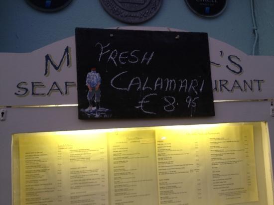 Mitchell's Restaurant: Best calamari I ever had!
