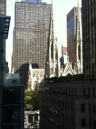 Club Quarters Hotel, opposite Rockefeller Center : Terrace view