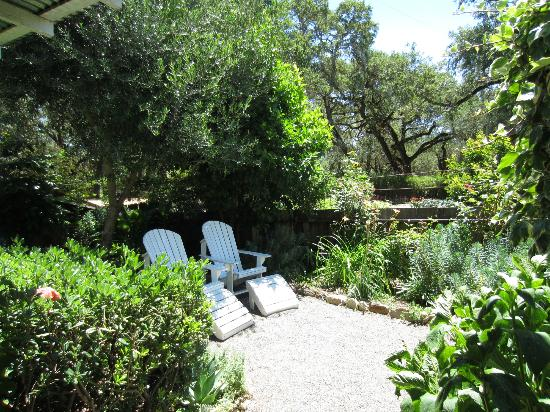 Beltane Ranch: Our private outdoor space