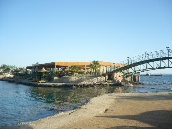 Desert Rose Resort: the bar in the middle of the sea
