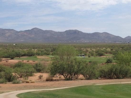 Turquoise Valley Golf Course: Golf course and background.