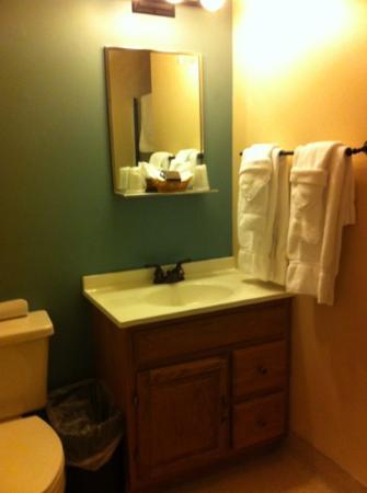 Mazama Village Motor Inn: salle de douche