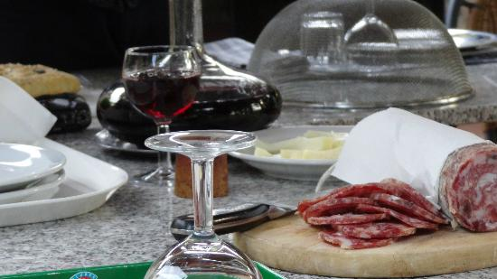 La Volpaia: As dinner begins each night..... 