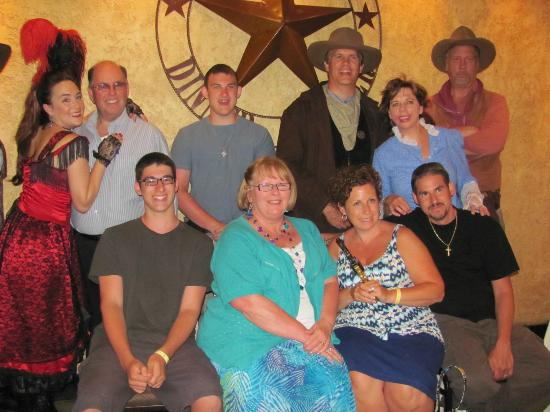Texas Star Dinner Theater: Group photo at end of show.