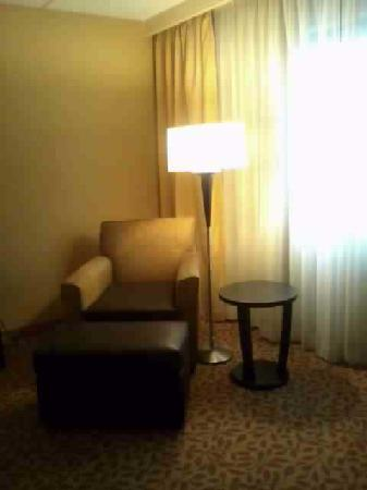 Holiday Inn Evansville Airport Hotel: Lounge chair with ottoman