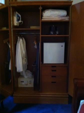 The Priory Hotel: inside armoire of king room #101