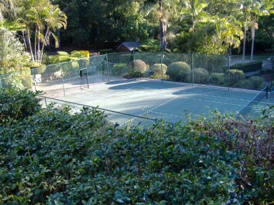 Montville Mountain Inn Resort: Wind protected tennis court