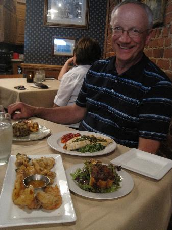 The Brass Cafe and Saloon: Husband Ken enjoys them too