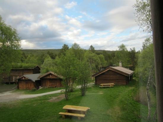 Bardola Hotel: Cabins for large groups seen from our room