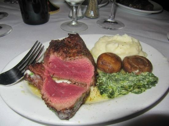 Ruth's Chris Steak House: 8 oz Filet with Mashed Potatoes, Mushrooms, and Creamed Spinach