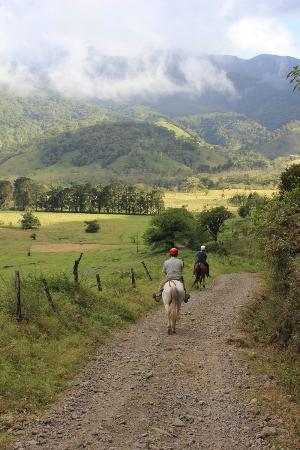 El Silencio Lodge & Spa: On our horseback ride.