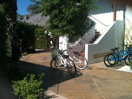 Alcazar Palm Springs: bikes are free to use