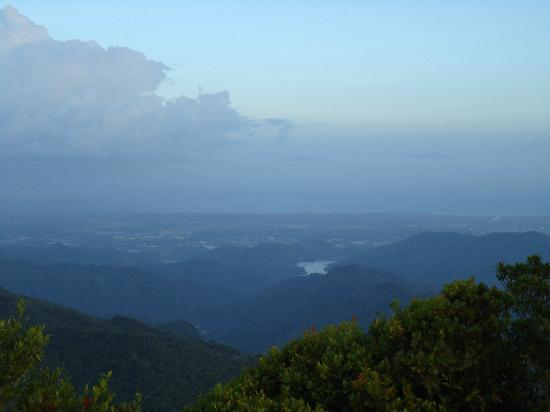 Jayuya, Puerto Rico: View towards Ponce from the summit
