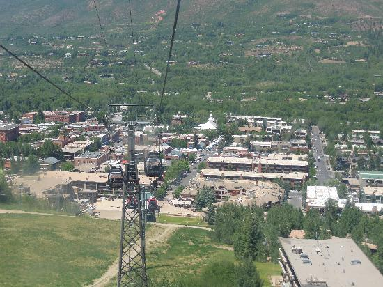 The town of Aspen, Colorado from the gondola.