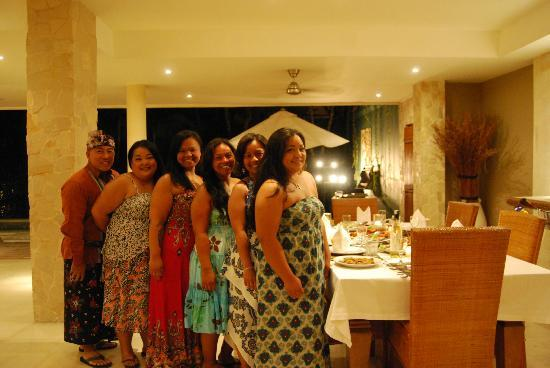 Sienna Villas: Our dinner party!