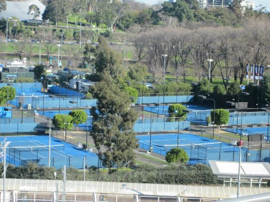 Mantra on Jolimont: View of tennis courts