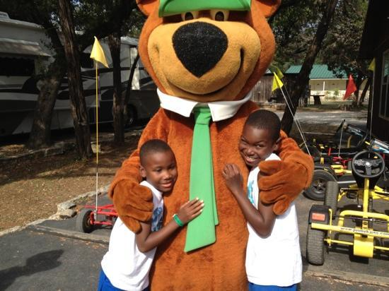 Yogi Bear's Jellystone Park Camp-Resort Hill Country: yogi made several appearances through the weekend